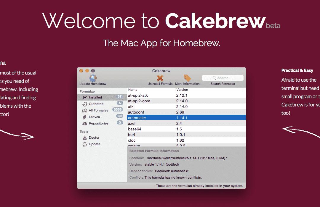 CakeBrew : Homebrew pour les nuls