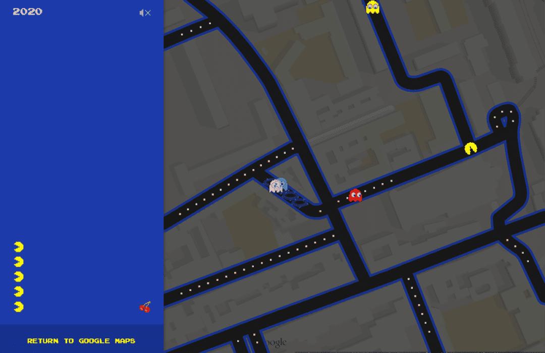 Pac-Man sur Google Maps